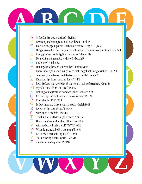 Scripture Alphabet Bible Verses
