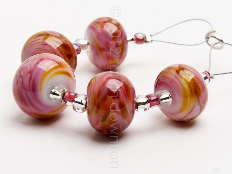 Tutti Ripple - Handmade Lampwork Glass Beads by Sarah Downton