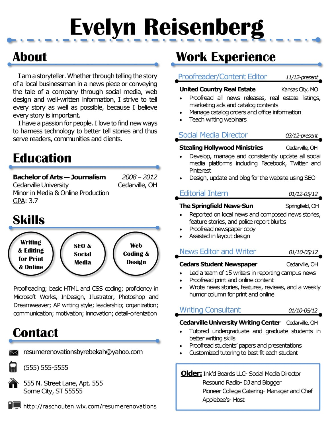 Catchy resume titles examples