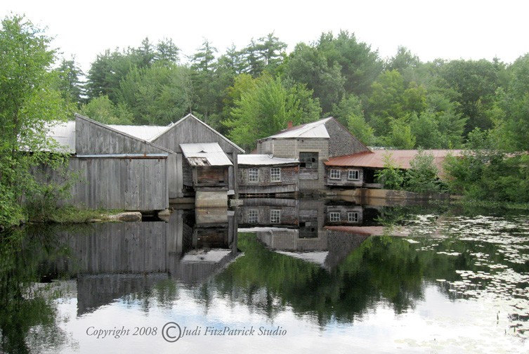 The Old Saw Mill 8x12 inch Photo, Black Mat