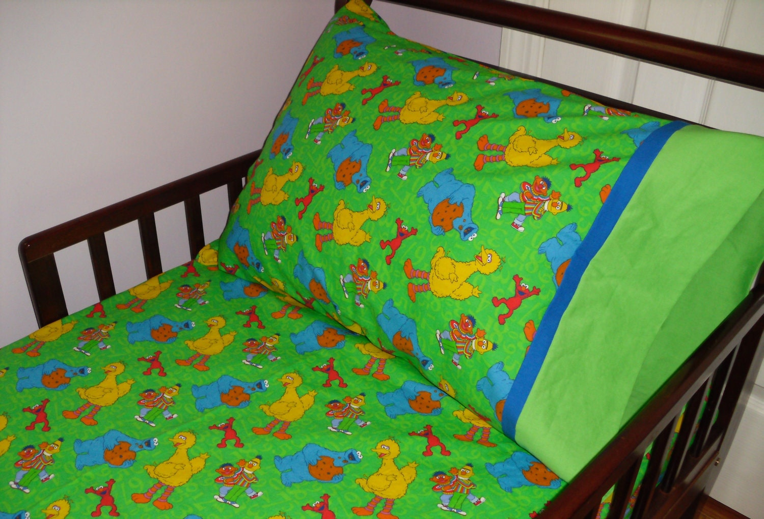 Sesame Street Baby Toddler Bed Fitted By Sweetdreamsbygranny
