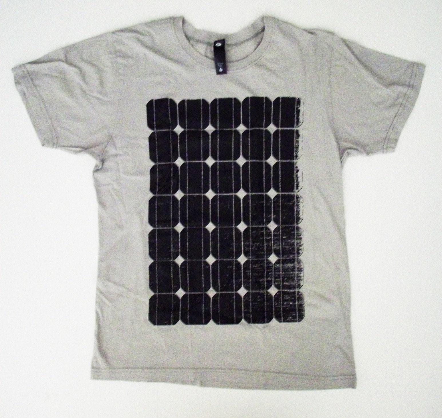 SOLAR PANEL T  SHIRT S, M. L. XL  alternative apparel energy green