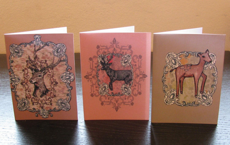Deer Gift Card Set of Three