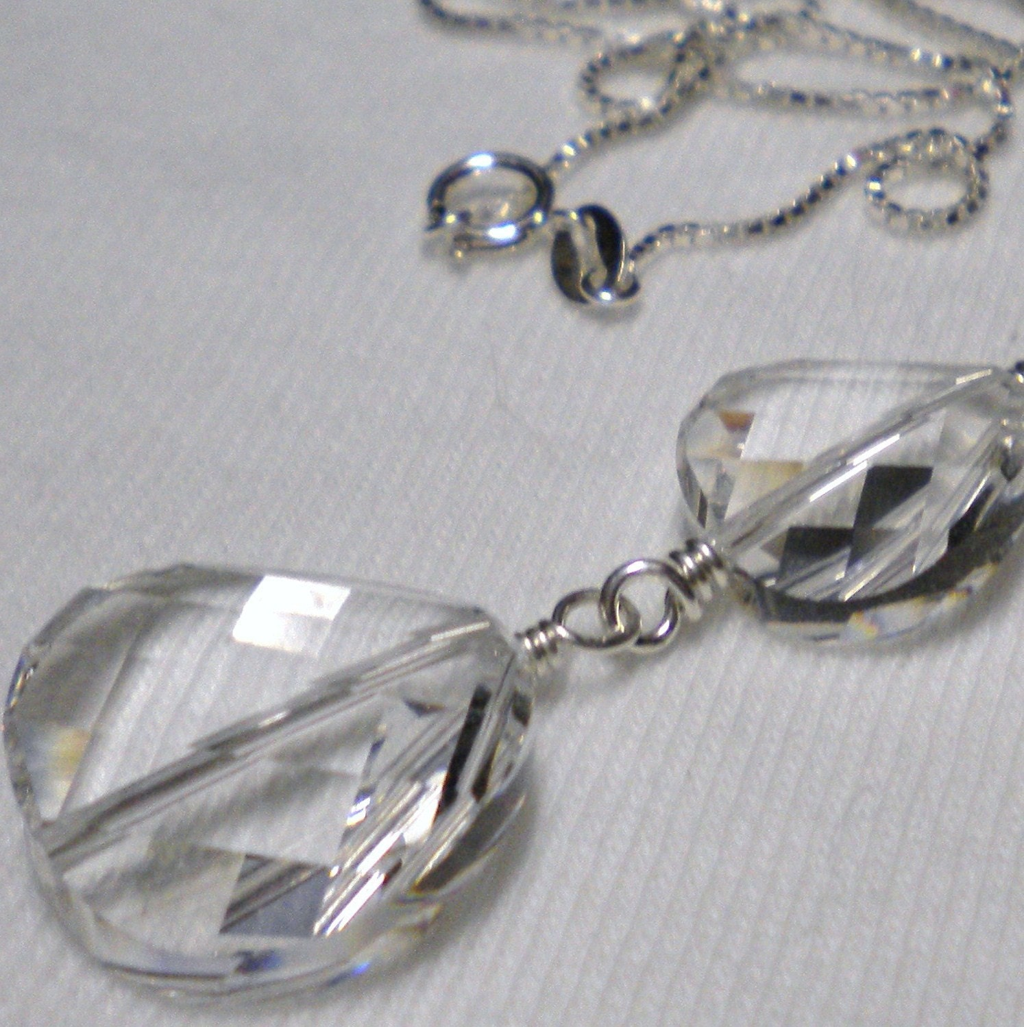 SWAROVSKI Necklace Pendant Crystal Sterling Silver