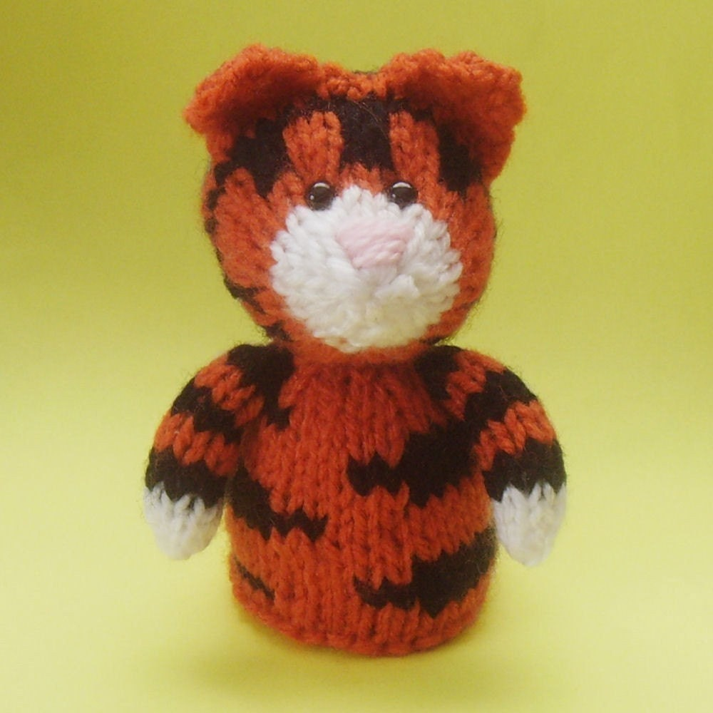 Knitting Patterns For Toys On Etsy : Tiger Toy Knitting Pattern PDF by Jellybum on Etsy
