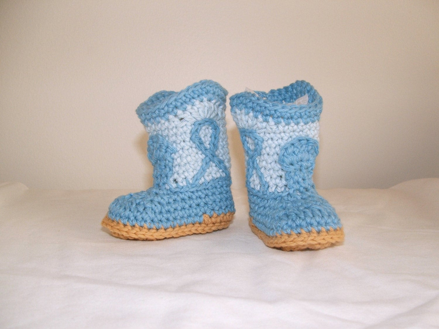 Blue Cowboy Booties for little cowboys, X-SMALL size
