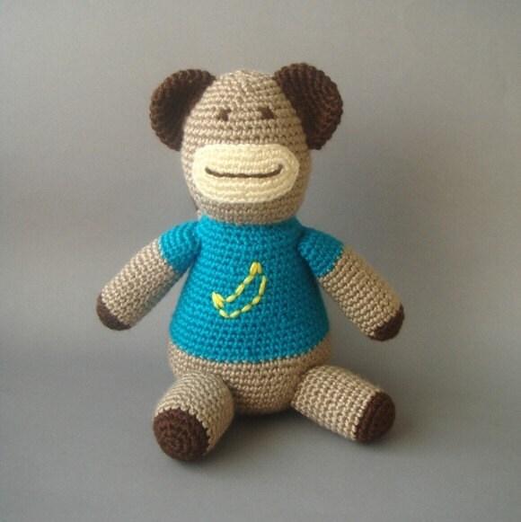 Amigurumi - crochet monkey - ooak -