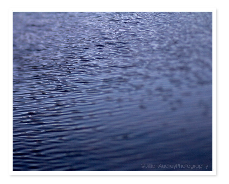 Charles River, Water Photography, Boston Photograph, Abstract Blue Photograph, Riples and Waves, 8x10 fine art print - JillianAudreyDesigns