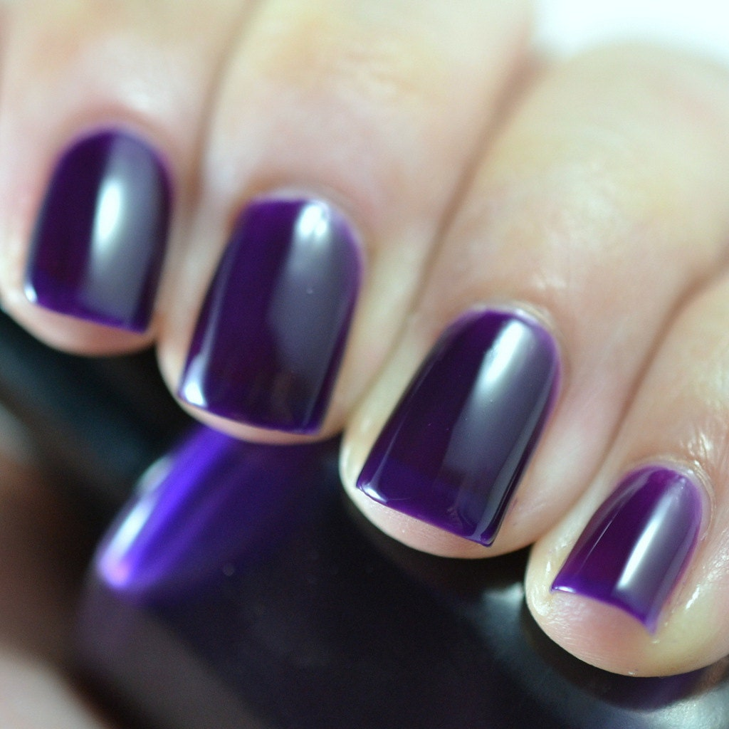 tyrian purple hand made nail polish by nailpatternboldness