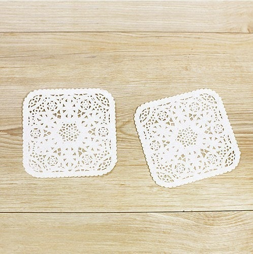 4inch Square Shaped Paper Doily