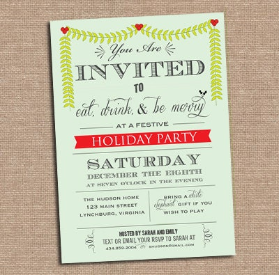 Holiday Party - Christmas Party Invitation