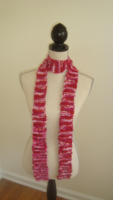 Raspberry Skinny scarf