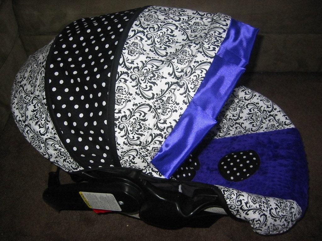 graco snugride purple damask infant car seat cover by babyseams. Black Bedroom Furniture Sets. Home Design Ideas
