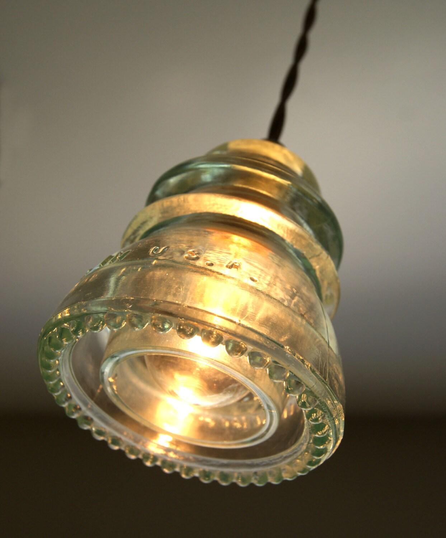 Nostalgic Vintage Insulator Pendant Light Green By