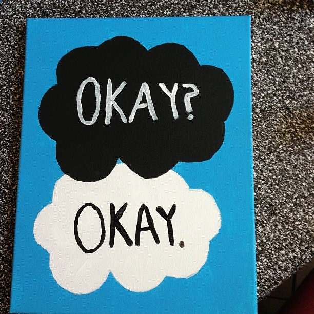cloud painting okay from John Green's 'The Fault by ...