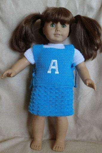 Easy Crochet Doll Skirt Pattern : 178 Vest and Skirt Set Crochet Pattern for American by ...