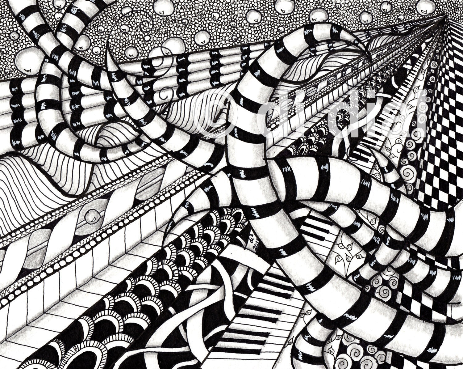 Line Design Art With Mr E : Vanishing point zentangle doodling pinterest