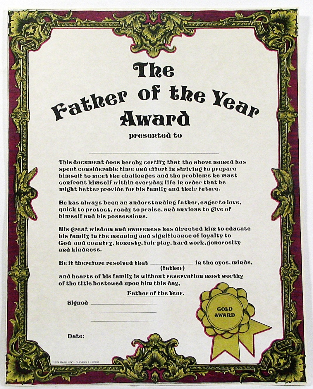 father of the year essay