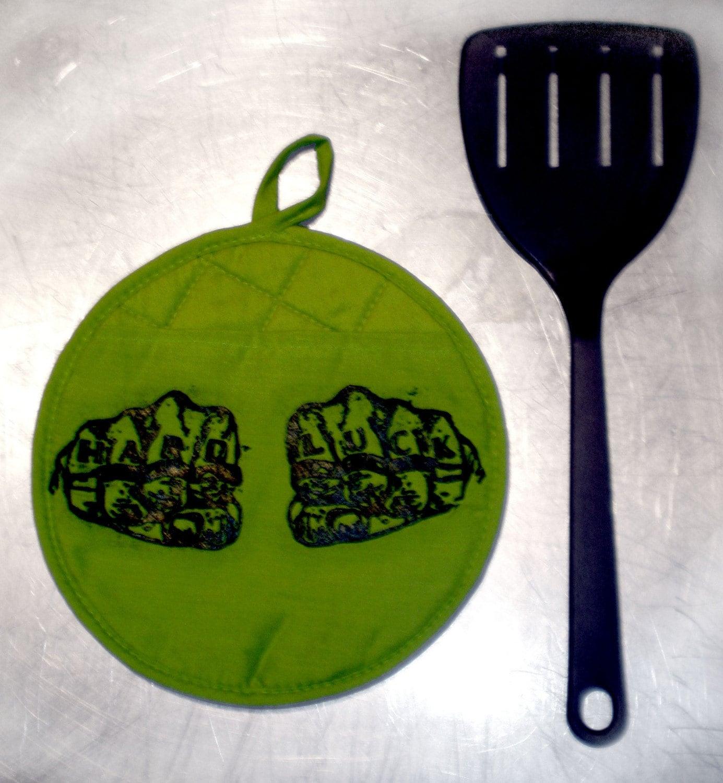 Lime Green Hard Luck Potholder