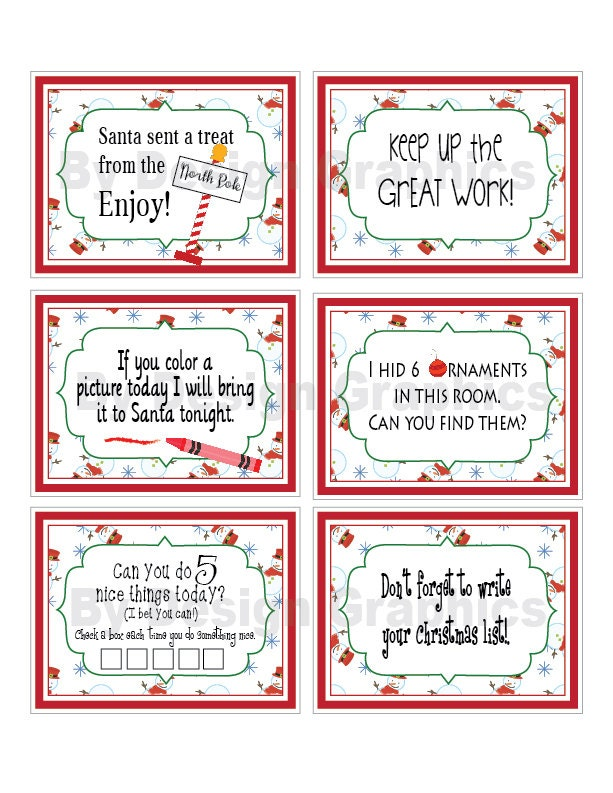 Elf notes set 3. INSTANT DIGITAL F ILES. Lots of fun ideas for ...