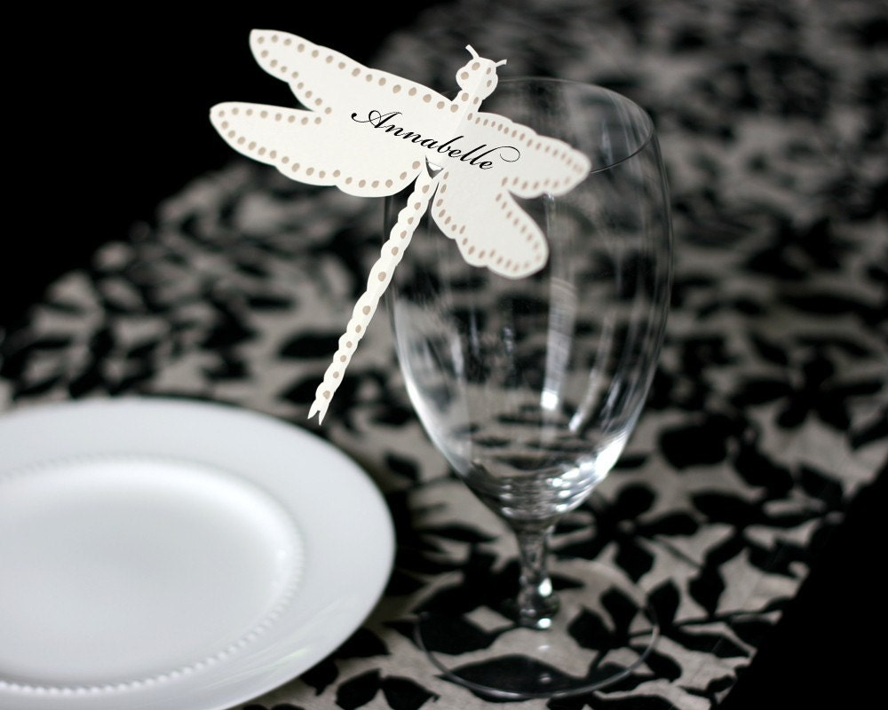 Dragonfly Place Cards - set of 150