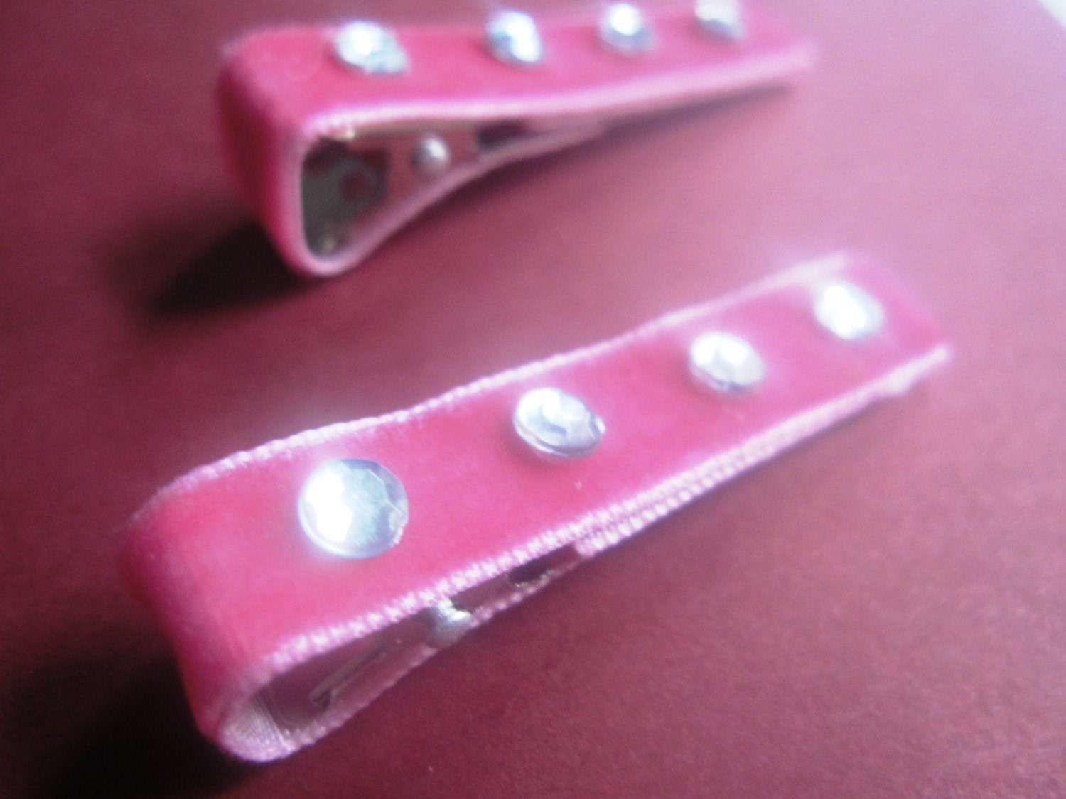 PINK VELVET GLAM- set of TWO- 4.00