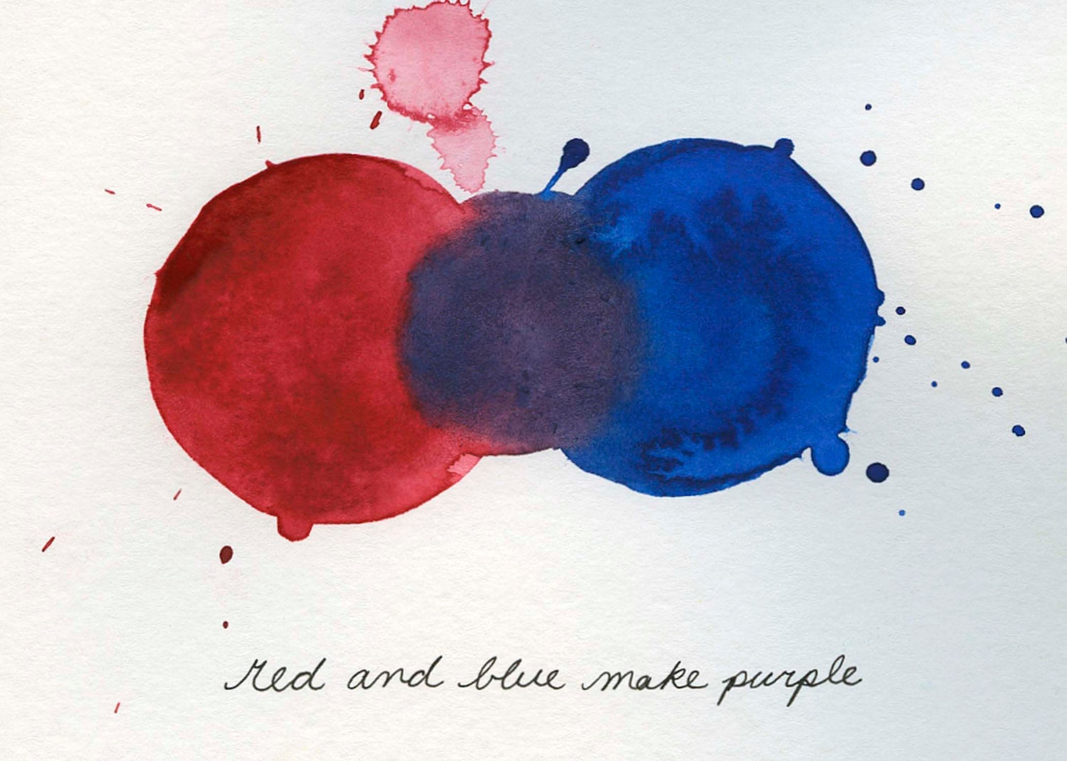 mixing colors red and blue make purple print from by nonfictional. Black Bedroom Furniture Sets. Home Design Ideas