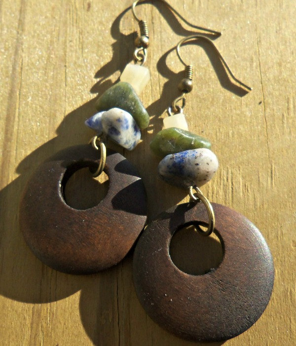 Stoned in the Woods Earrings
