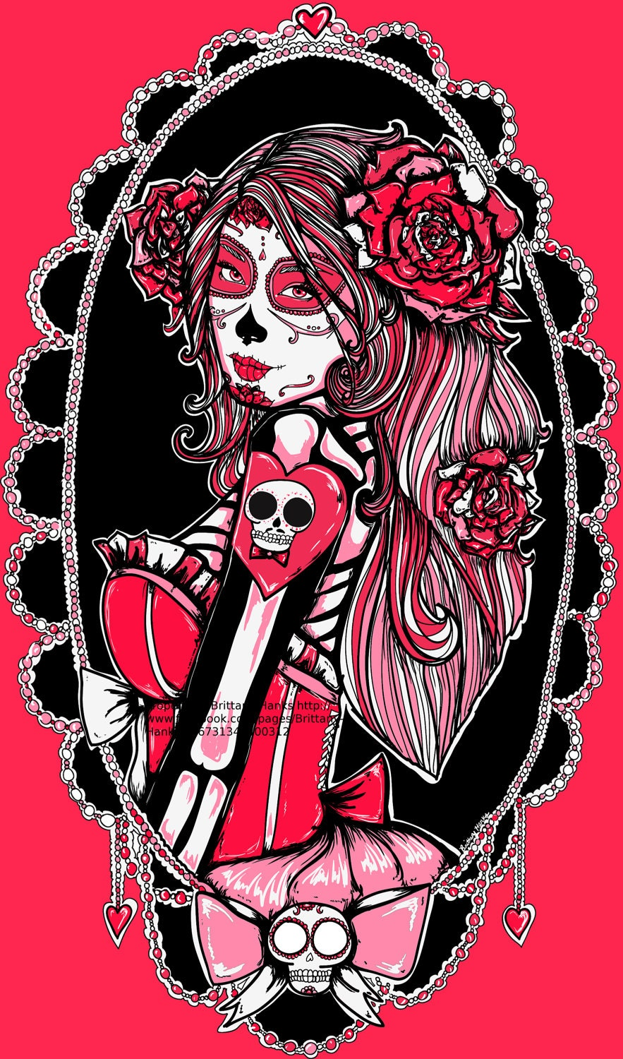 Day of the Dead Pin Up Girl Art