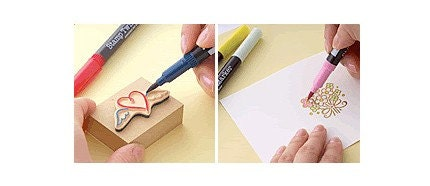 Stamp Twin Marker Pen - Set of 6