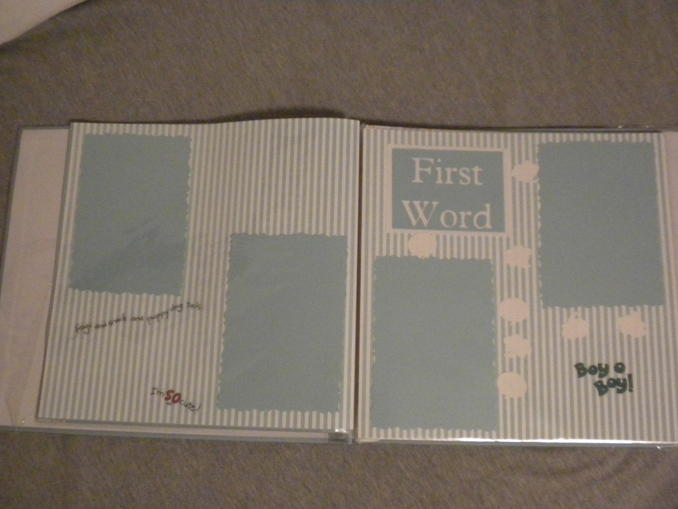 Baby's First Year Scrapbook (ready to add pictures)