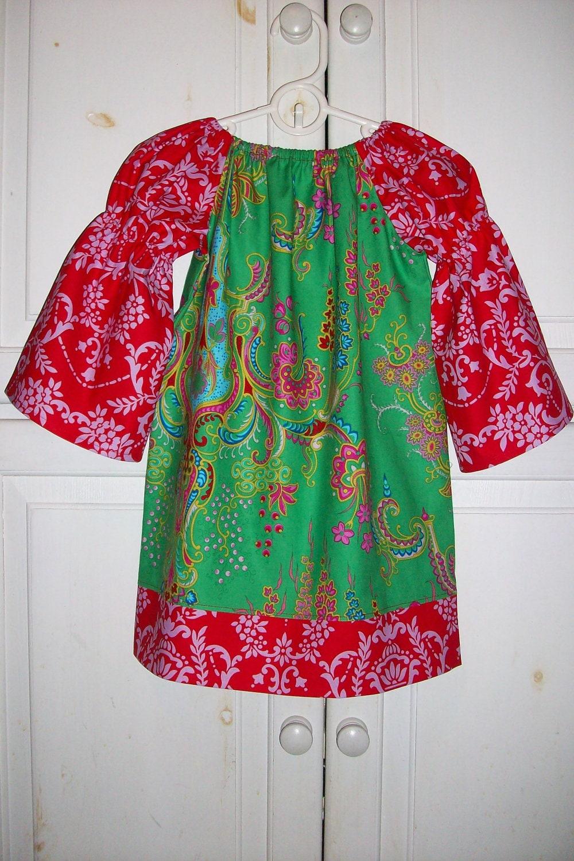 Christmas peasant dress long sleeve jennifer paganelli crazy love