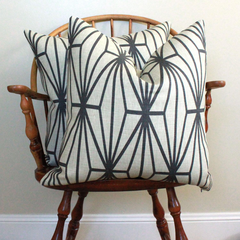 "PAIR of 22"" Pillow Covers - Groundworks - Kelly Wearstler - Katana Stripe"