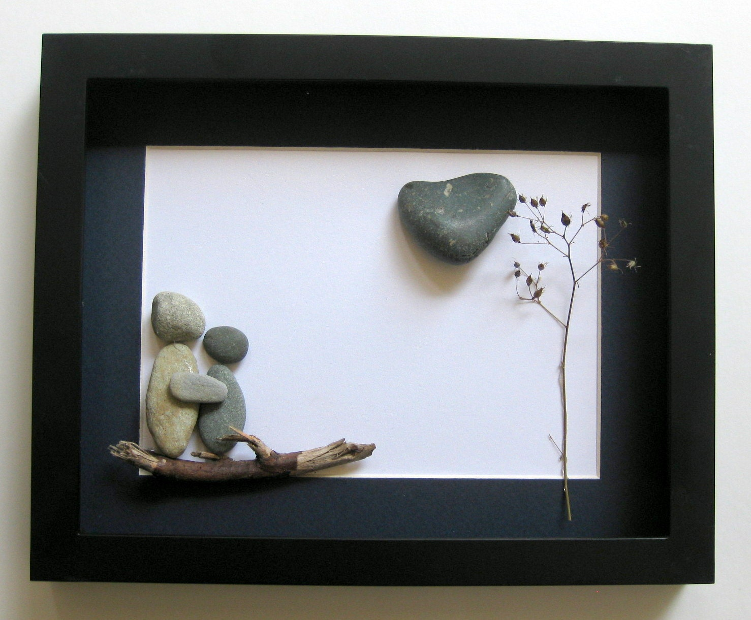 Unique Engagement Gift- Personalized Couple's Gift -  Pebble Art - Love Gifts - Custom Engagement Gifts - SticksnStone