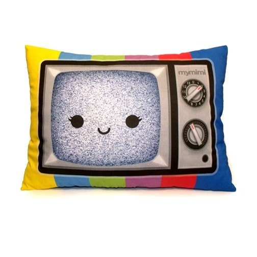 Happy Color TV - Travel Size Pillow