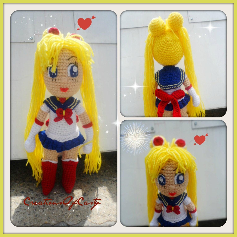 Sailor Moon Amigurumi Patron Gratis : Sailor Moon Crochet Doll Amigurumi by CREATIONSOFCASTY on Etsy
