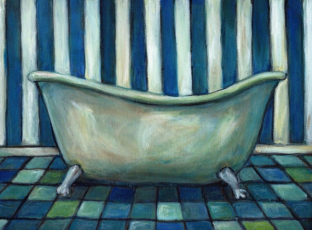 Clawfoot Tub - Original Painting