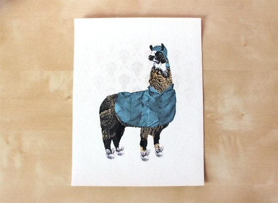 Llama In Pajamas Canvas Print