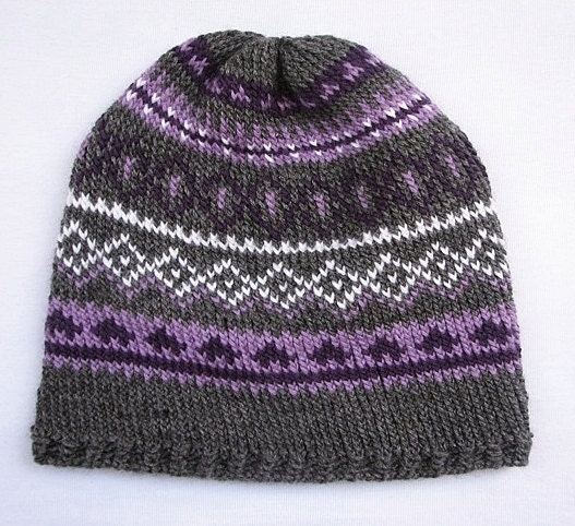 Knitting Pattern For Norwegian Hat : Items similar to Hand knit hat, Traditional norwegian pattern, Fall winter wo...