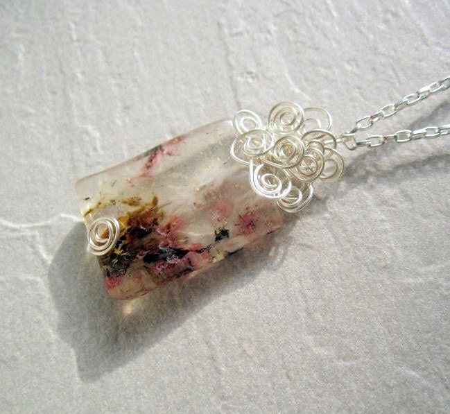 Clear Quartz with Natural Color Rectangular by DebrasDivineDesigns from etsy.com