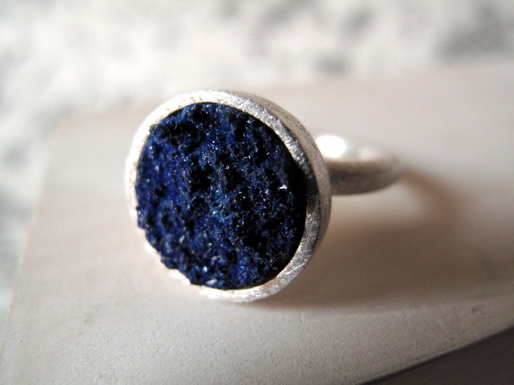 Zen ring with Azurite