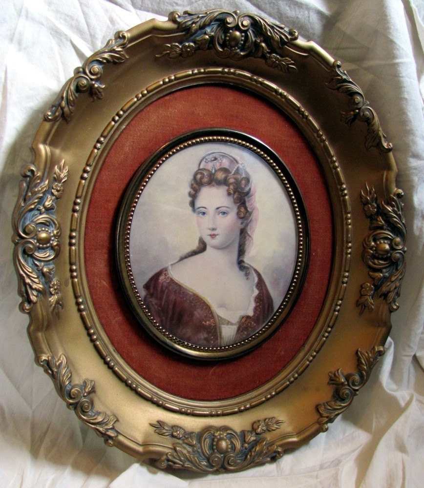 large cameo creation, victorian portrait - duchesse de maine by j. stieler