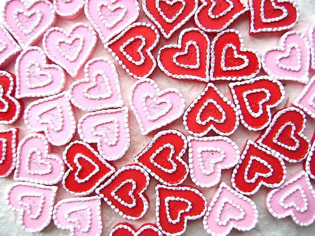 WHOLESALE Cute Japanese Hearts Pink And Red 40