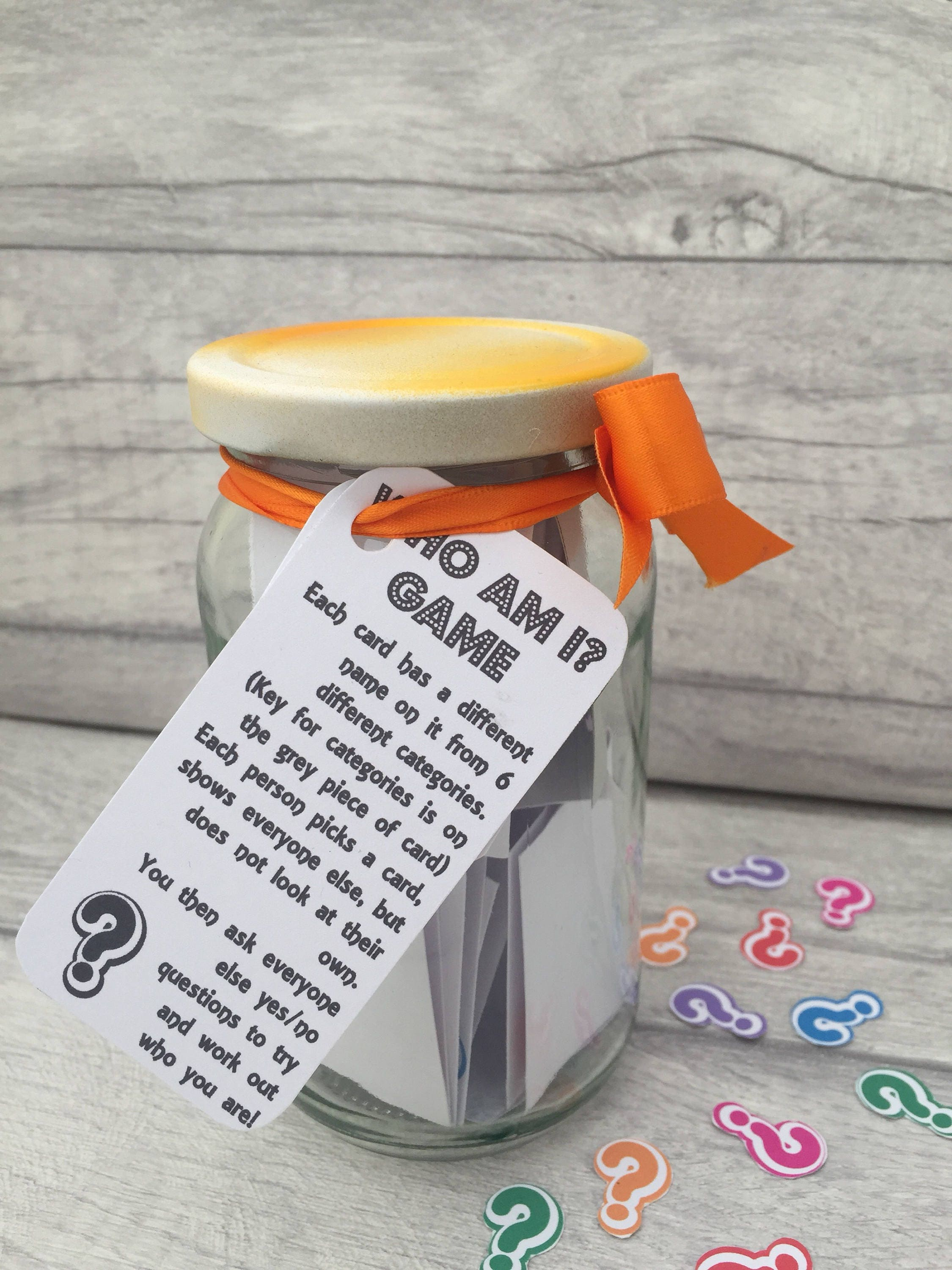 Who Am I  Jam Packed Jar  Childrens Games  Family Games  Childrens Activities  Family Activities  Holiday Games