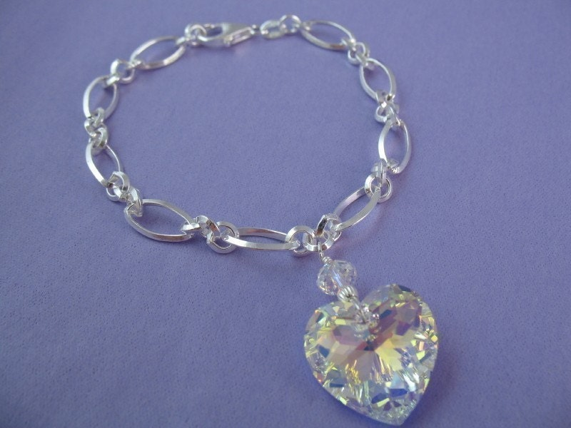 Only Edward - QUALITY Twilight Bracelet - Rare Crystal Heart
