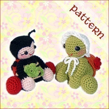 PDF Pattern - Lucky Ladybug and Tiny Turtle