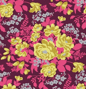 Joel Dewberry FABRIC - Heirloom Home Decor - Rose Bouquet - Garnet