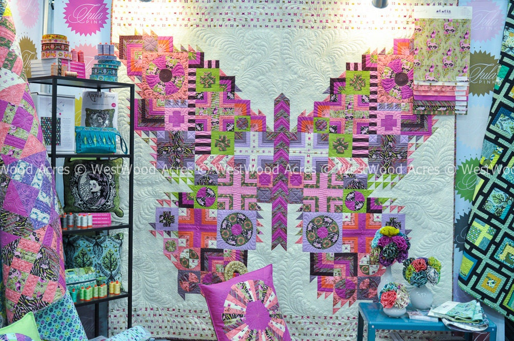 tula pink butterfly quilt pattern only by westwoodacres on