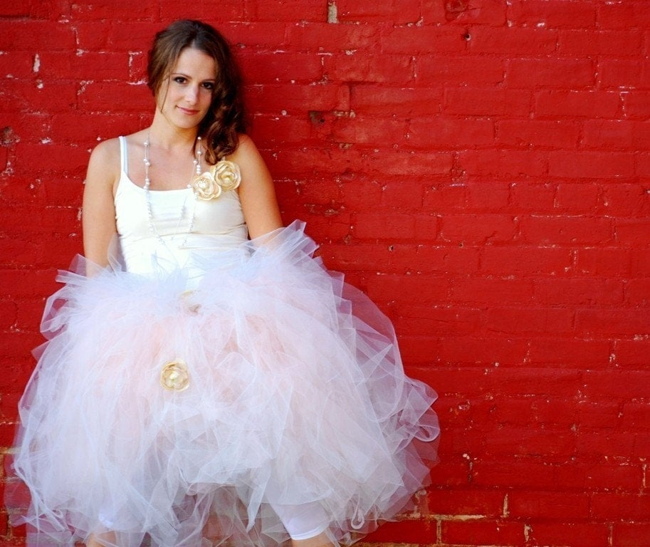 Design Your Own Wedding Dress Tutu-Wedding Dress Alternative Adult Tutu Red Pink Ivory