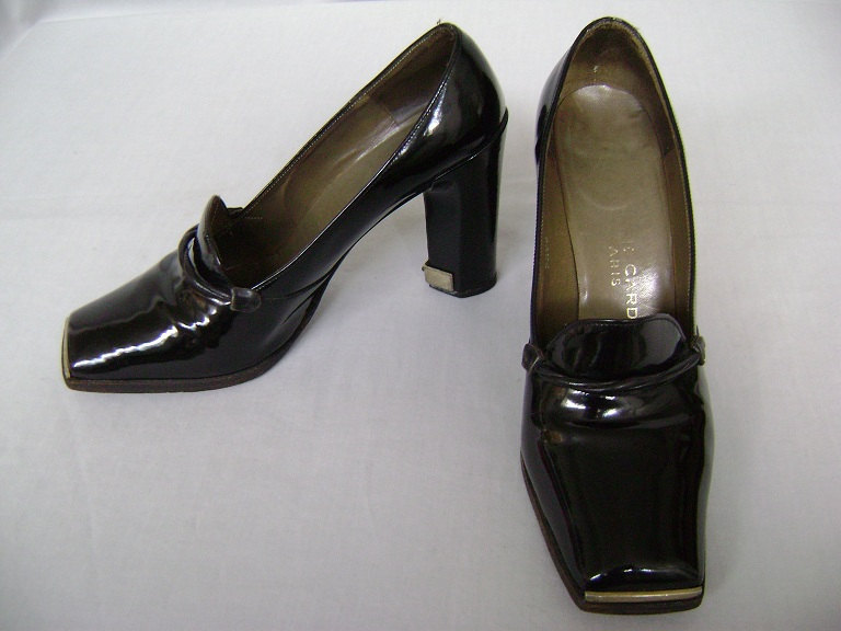 80s Womens Shoes / Pierre Cardin Paris / Patent Leather Shoes / size